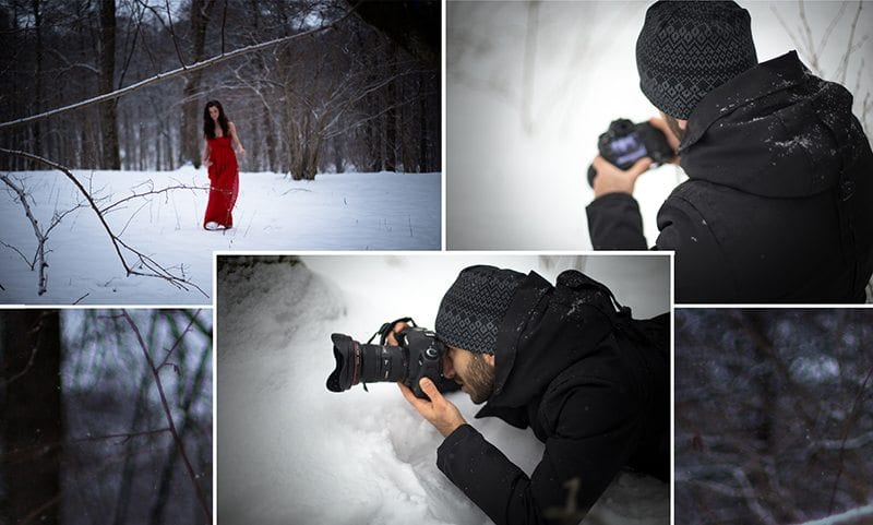 Under en vinterfotografering