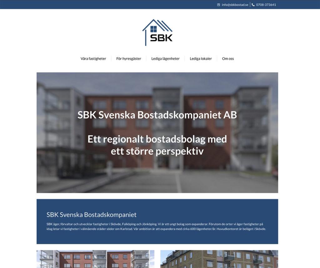 Webbutveckling SBK Bostad